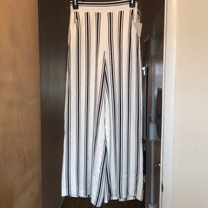 Striped wide leg Riviera trouser